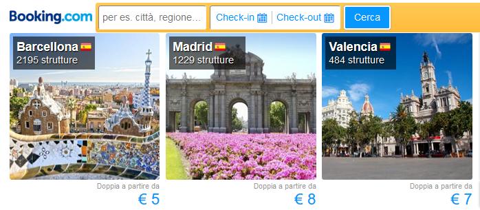 prenotare Spagna