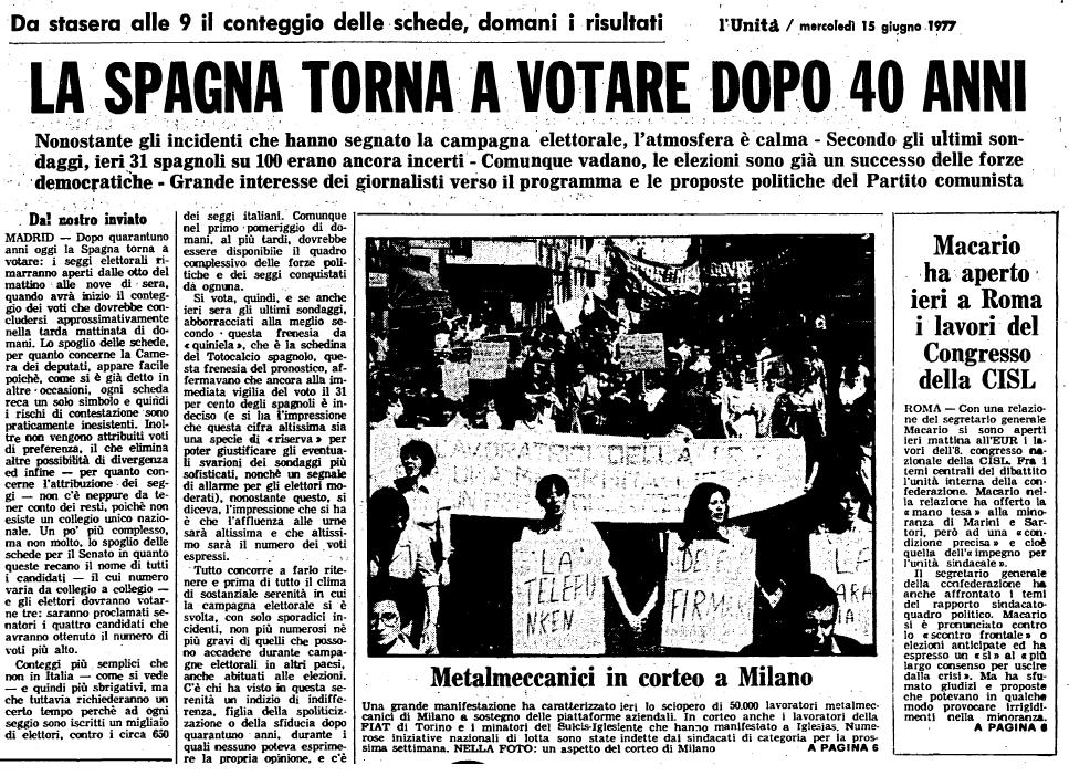 Quante elezioni politiche ci sono state in Spagna? E quando si sono tenute?