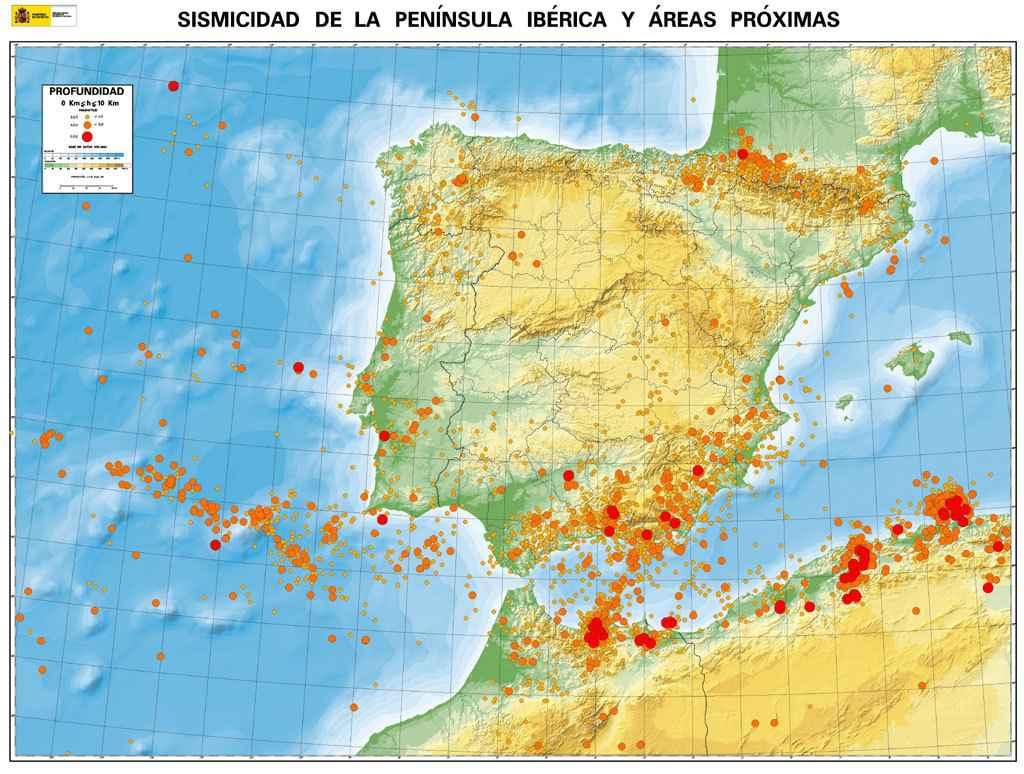 Spagna E Isole Canarie Cartina Geografica.I Terremoti Piu Forti Che Hanno Colpito La Spagna Dal 1300 Ad Oggi El Itagnol