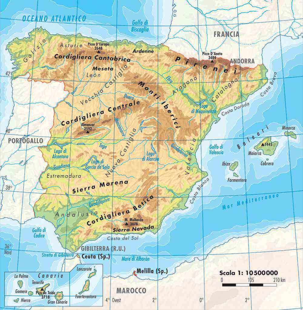 Cartina Spagna.Partiti Nazionalisti Di Catalogna Paesi Baschi Galizia E