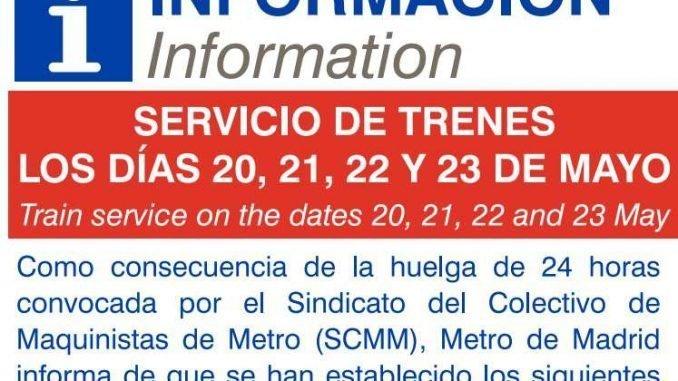 sciopero metro madrid