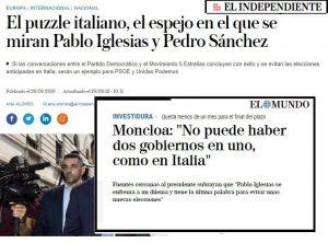 Alcuni articoli di giornale spagnoli - agosto 2019.