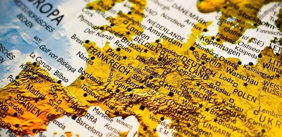 spagna europa mappa