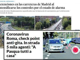 traffico pasqua 2020 giornale