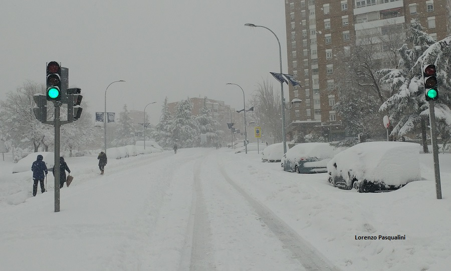 neve madrid 9 gennaio 2021