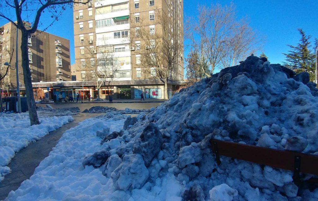 neve madrid 19 gennaio 2021 foto pasqualini