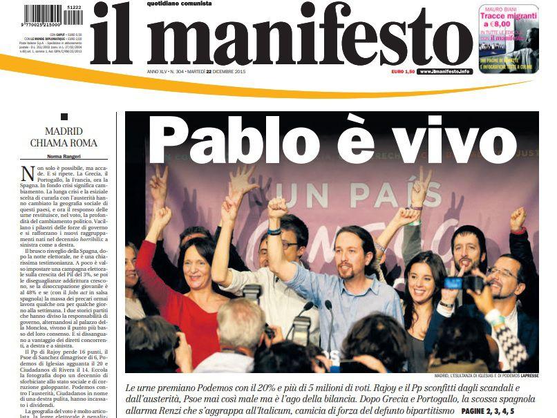 il manifesto pablo iglesias